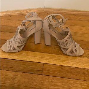 Call It Spring block tie up heel